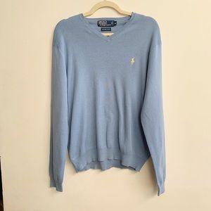 Polo by Ralph Lauren Men's V Neck Sweater Size M